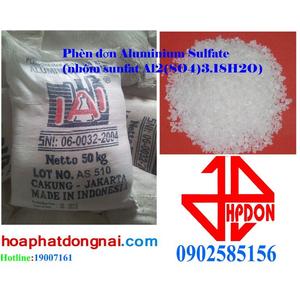 Phèn đơn Aluminium Sulfate (nhôm sunfat Al2(SO4)3.18H2O)