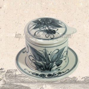 Phin gốm sứ Bát Tràng hoa văn chuồn chuồn