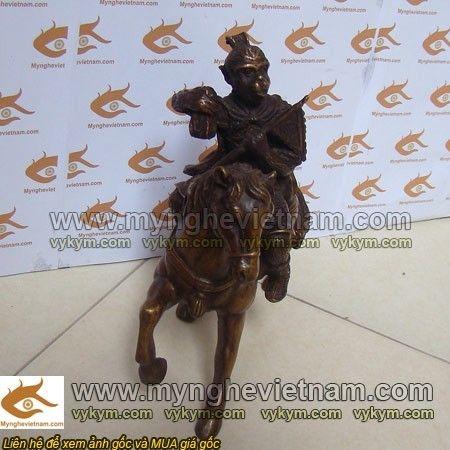 tượng khỉ hầu cưỡi ngựa, Mã Thượng Phong Hầu 20cm