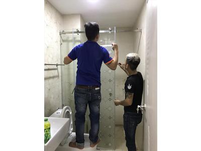 Phòng tắm kính - Phòng tắm kính cửa lùa