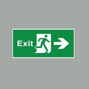 Phụ Kiện Đèn Báo Exit Đa Năng 1 Mặt Phải