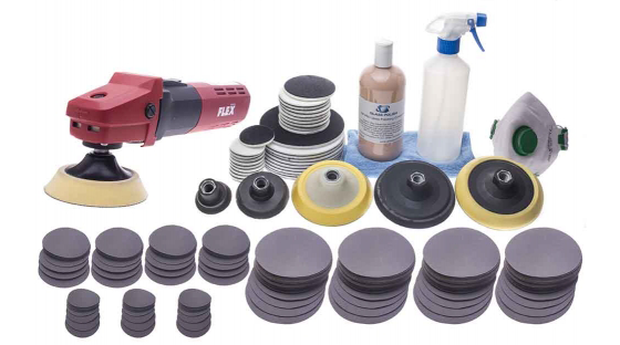 Bộ Full dụng cụ phục hồi kính trầy xước, ố mốc trên kính xây dựng, Kính lưu kho...