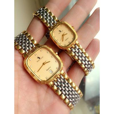 Đồng hồ cặp đôi chính hãng Polo gold Pog3108