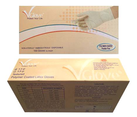 Găng tay y tế không bột phủ Polymer VGlove