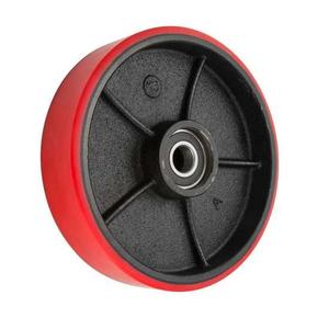 Bánh xe nâng tay, bánh xe PU 180x50- Bánh lái