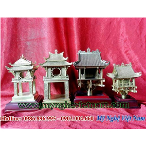 Biểu trưng quà tặng chùa 1 cột, khuê văn các bằng đồng