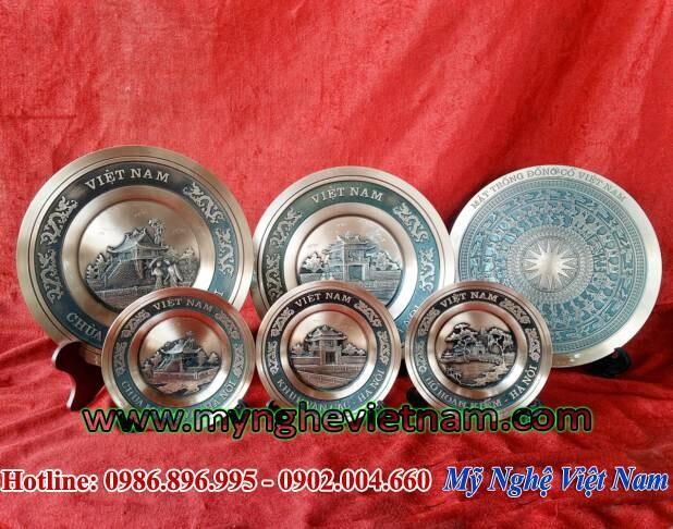 Quà tặng đĩa đồng đúc văn hóa Việt Nam