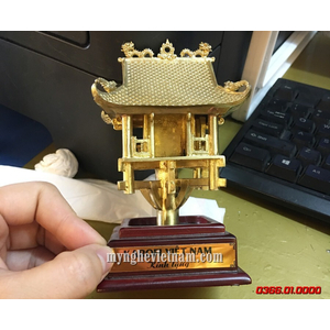 Tượng chùa 1 cột để bàn cao 12cm bằng đồng cao cấp