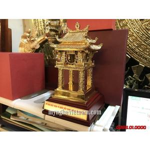 Quà tặng mạ vàng tượng Khuê Văn Các cao 15cm để bàn làm việc