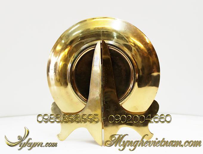 Đĩa đồng quà tặng văn hóa Hà Nội đk 22cm