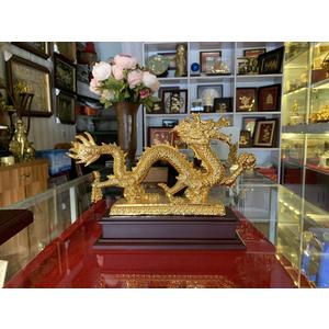 Quà tặng rồng vàng cầm cầu 20cm