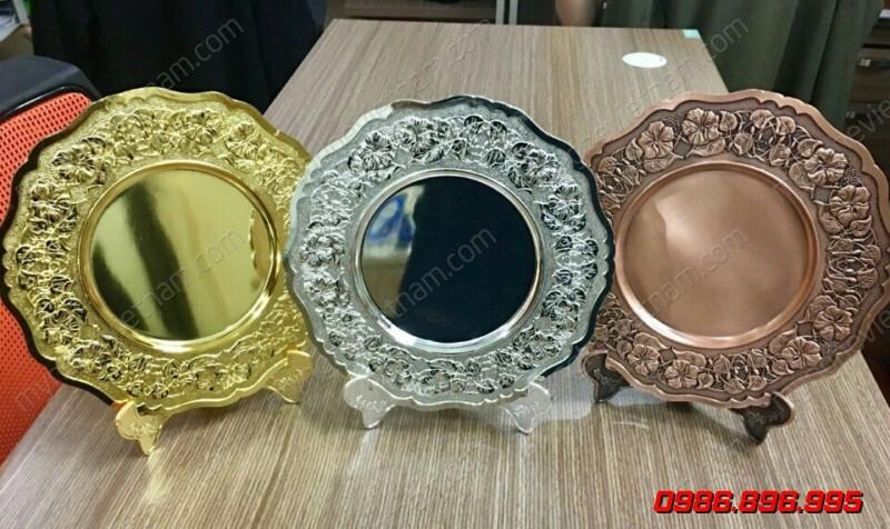 Đĩa đồng vàng bạc đồng quà tặng sự kiện cao cấp