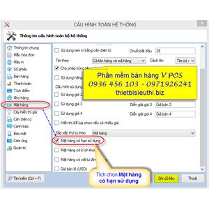 Quản lý hàng hóa theo hạn sử dụng trong phần mềm bán hàng V POS