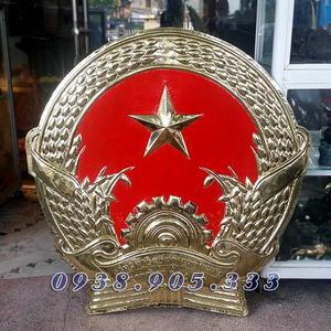 Quốc huy nhà nước bằng đồng dk 60cm