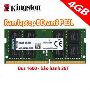 ram laptop 4gb kingston PC3L (mới)