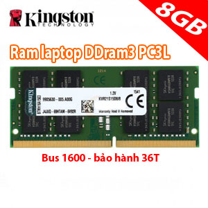 ram laptop 8gb kingston PC3L (mới)