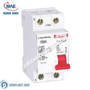 RCBO 1P+N 16A 30mA 4.5kA - Model HDB6PLEC16