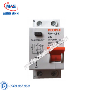 RCBO tủ điện phòng - RDX40LE-63 1P+N