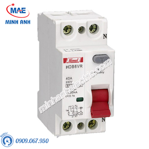 RCCB 2P 100A 300mA - Model HDB6VR2100TC