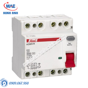 RCCB 4P 10A 300mA - Model HDB6VR410TC