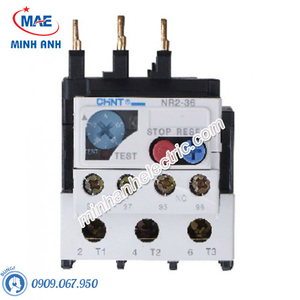 Relay Nhiệt NR2 lắp cho Contactor NC1 - Model NR2-36G (23A~36A)