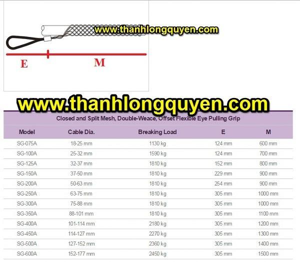 Rọ kéo cáp sg-075a sg-100a sg-125a haru