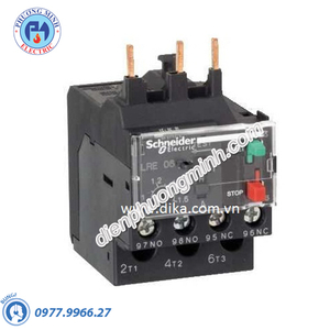 Rơle nhiệt 0.40-0.63A sử dụng với Contactor LC1E06-E38 - Model LRE04
