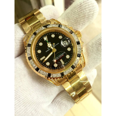 Rolex GMT-Master II Automatic 18k Yellow Gold 116758 Men's Watch
