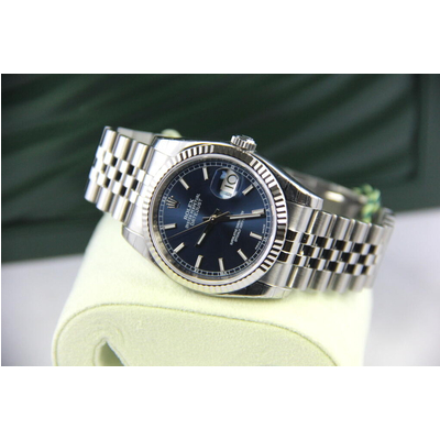 Rolex Oyster Perpetual Datejust Blue Dial Stainless Steel 36mm 116234