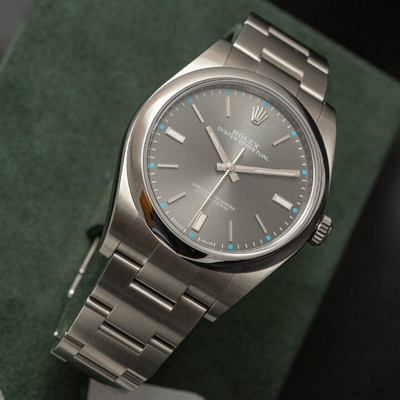 Rolex Oyster Perpetual Grey Dial Stainless Steel 36mm 114200