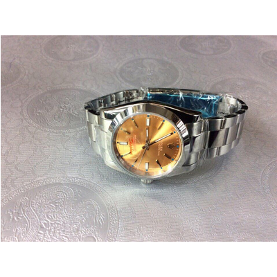 Rolex Oyster Perpetual Yellow Dial Stainless Steel 36mm 114200