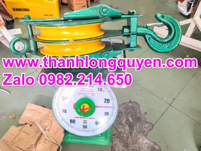 Ròng rọc puly sắt đôi 5 tấn 10 inch 250mm