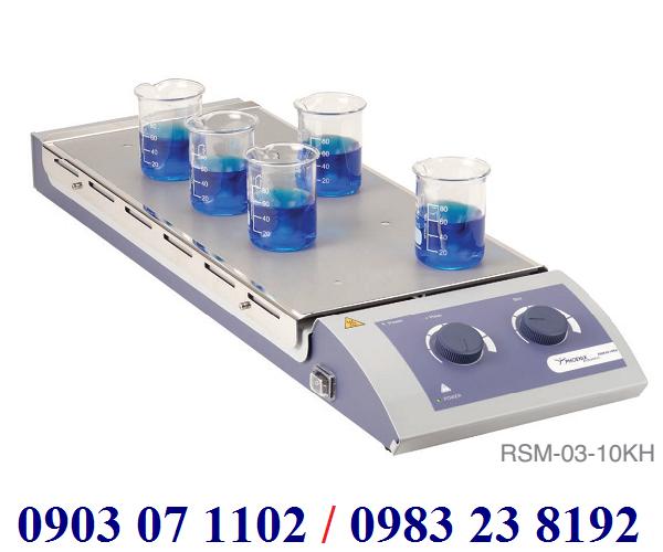 Máy khuấy từ gia nhiệt 10 vị trí Model:RSM- 03-10KH