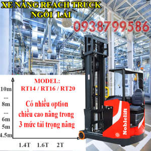 Xe nâng điện đứng lái 2 tấn RT20 nâng cao lên đến 10m