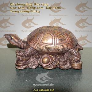 Rùa đồng giả cổ quy rùa phong thủy dài 12cm