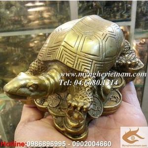 Rùa phong thủy, quy rùa bằng đồng dài 12cm