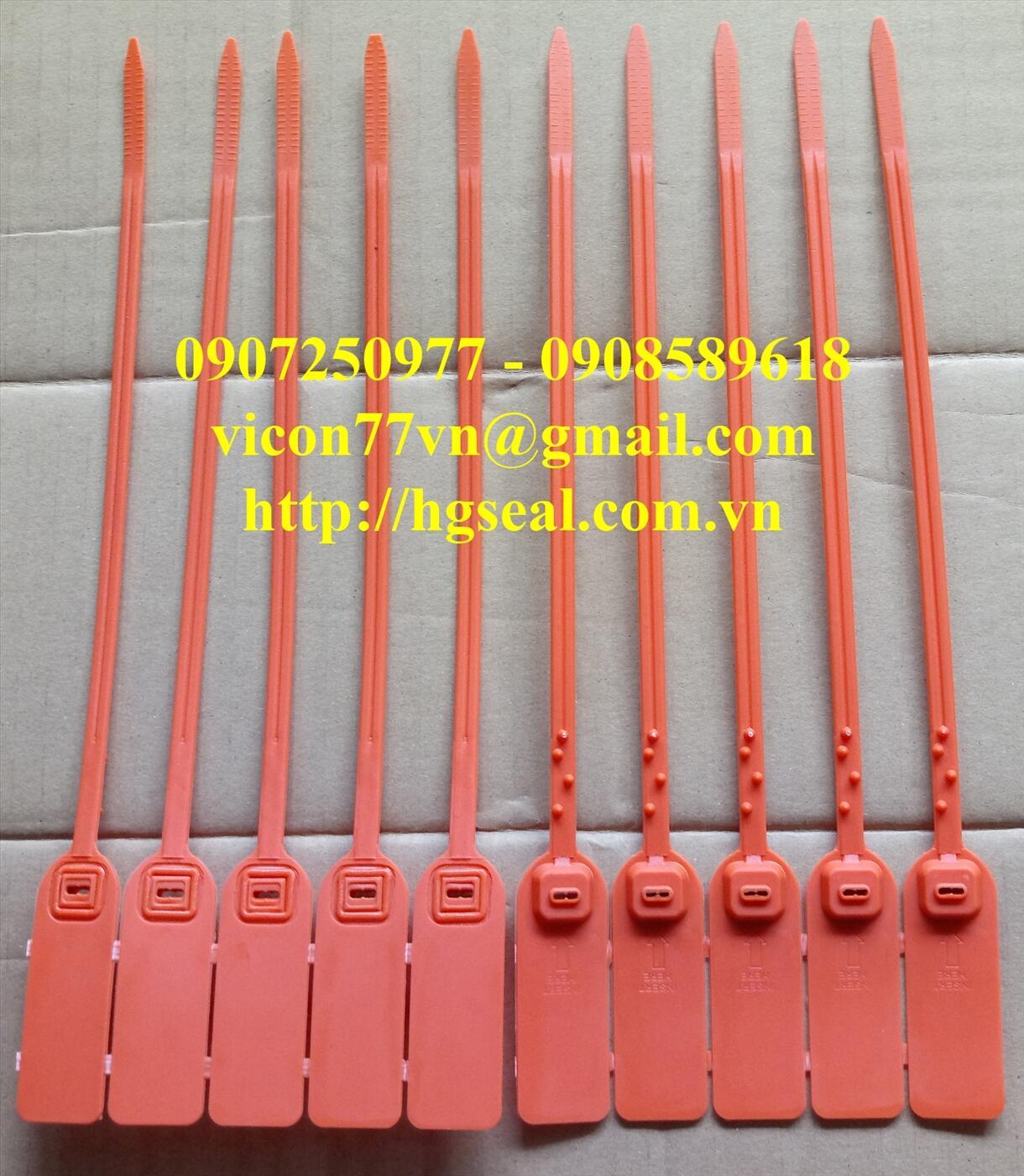 Seal dây rút dẹt khóa kim loại 31 cm