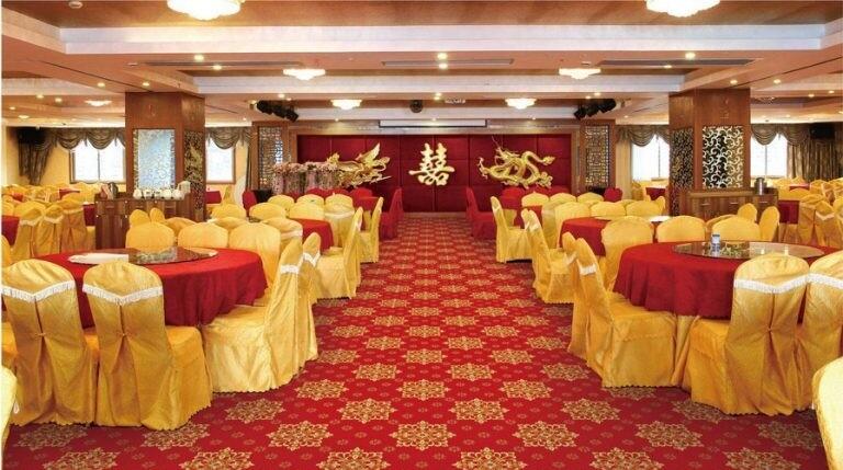 Công trình nhà hàng lớn sử dụngthảm trải sàn Huếvới dòng thảm hoa văn