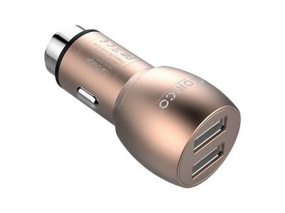 Sạc USB trên xe ô tô 2 cổng: 2.1A và 1A