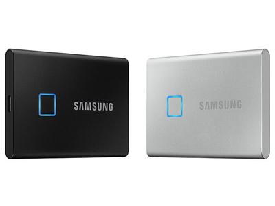 Samsung trình làng ổ SSD di động T7 Touch hỗ trợ bảo vệ dữ liệu bằng vân tay