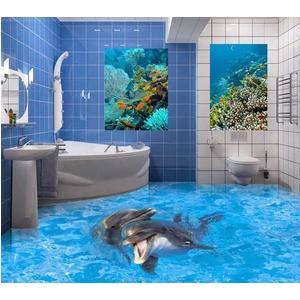 Sàn 3D epoxy cho nhà WC
