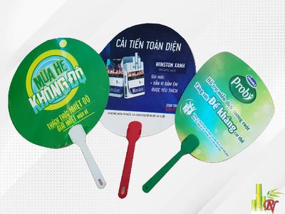 Sản xuất quạt nhựa quảng cáo tại Quận Gò Vấp - Bảng Giá Quạt Nhựa