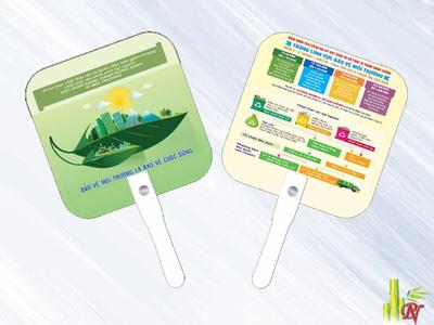 Sản xuất quạt nhựa quảng cáo tại Quận Tân Phú - Bảng Giá Quạt Nhựa