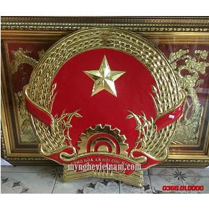 Quốc huy Việt Nam bằng đồng dk 80cm