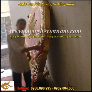 Sản xuất Quốc huy Việt Nam bằng đồng đường kính 2m1