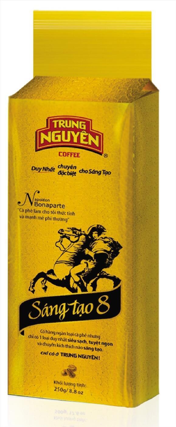 Cà phê sáng tạo 8 (250gam) Trung Nguyên. Giá cà phê sáng tạo 8 bao nhiêu tiền