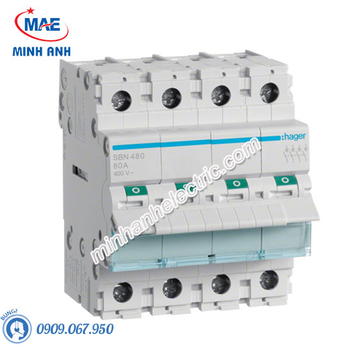Cầu dao cách ly Hager (isolator) - Model SBN480