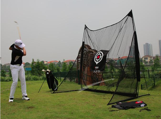 Combo Khung Lưới Tập Golf Kích Thước 250x250x100cm + Thảm Swing 120x120cm + Thảm Cỏ Lót Sàn