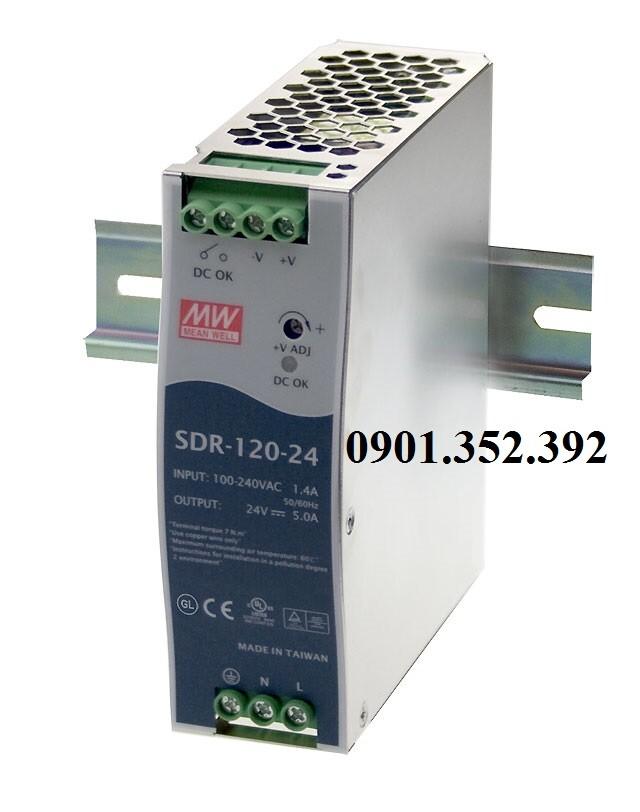 Nguồn Meanwell SDR-120-24