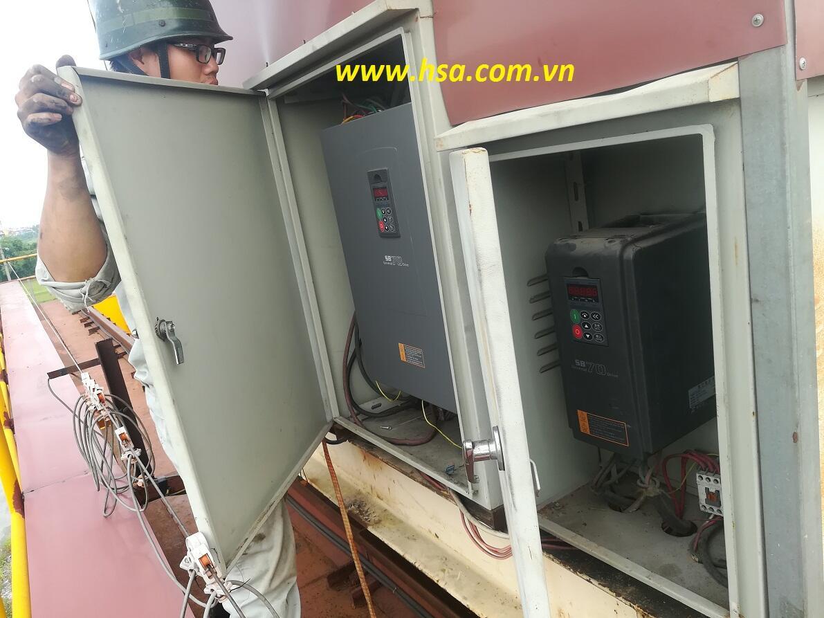sửa máy biến tần senlan sb70 tại hải phòng